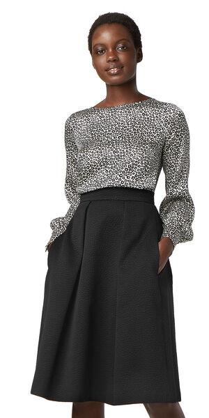 Image of LaDress Ava silk blouse blackgreyprintwhite