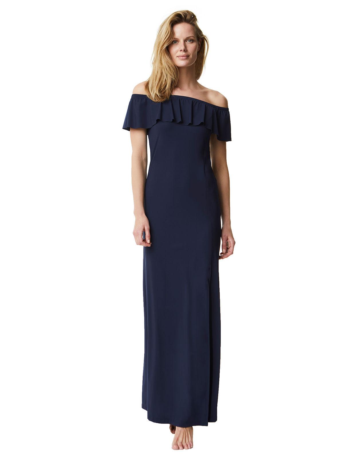 Abbildung von LaDress Aimee schulterfreies kleid blau