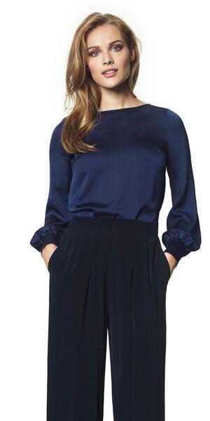 Image of LaDress Ava satin blouse blue