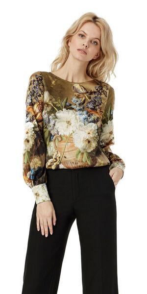 Image of LaDress Ava silk blouse print