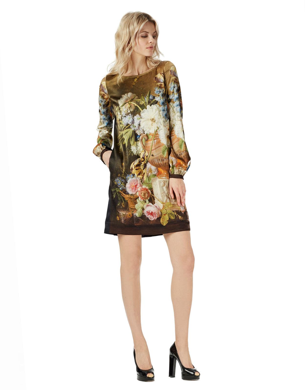 Abbildung von LaDress Art Dress seidensatin kleid print