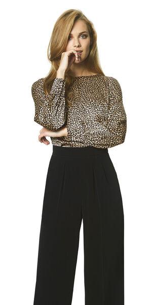Image of LaDress Ava silk blouse brownprint