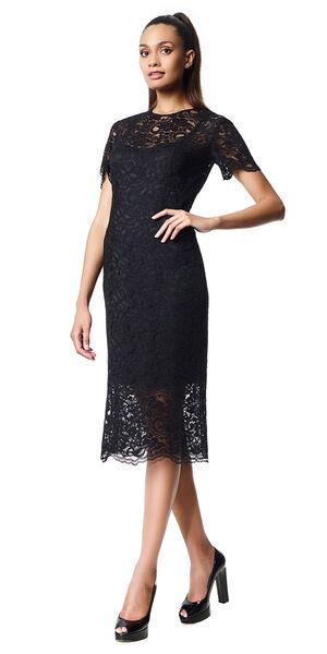 Image of LaDress Adriana lace pencil dress black