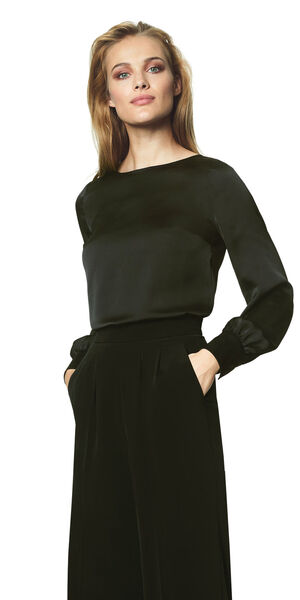 Image of LaDress Ava satin blouse black