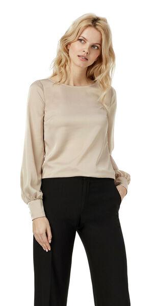 Image of LaDress Ava satin blouse neutral