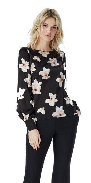 Image of LaDress Ava silk blouse blackpinkprint