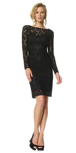 Image of LaDress Aurelie lace pencil dress black