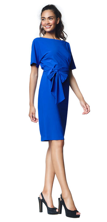 Blauwe Cocktailjurk.Wedding Guest Clothing For Women Ladress By Simone