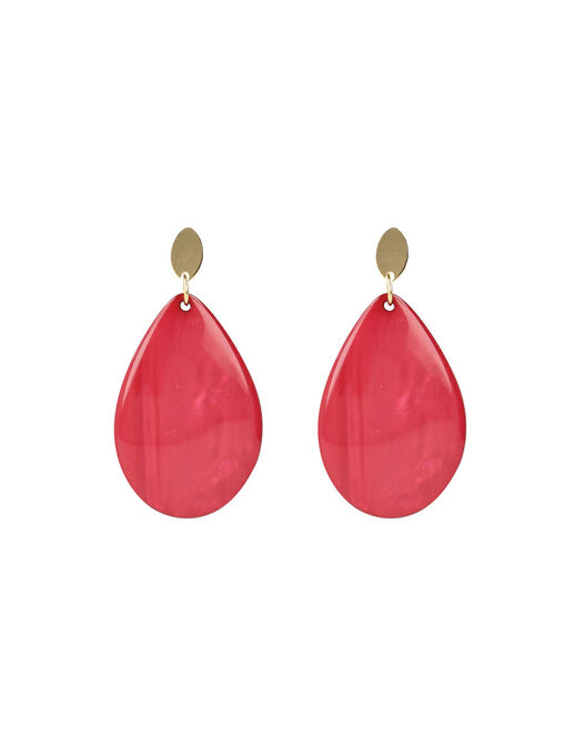 Coral Red Resin Drop -  - large
