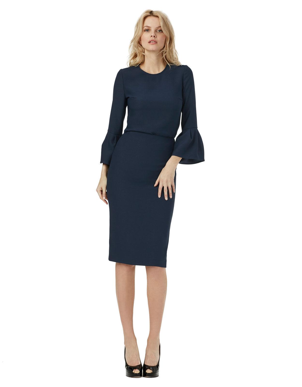 Abbildung von LaDress Alessandra bleistiftrock aus crêpe satin blau