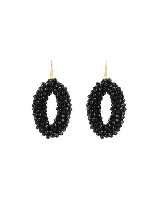 Black Glassberry Oval -  - large