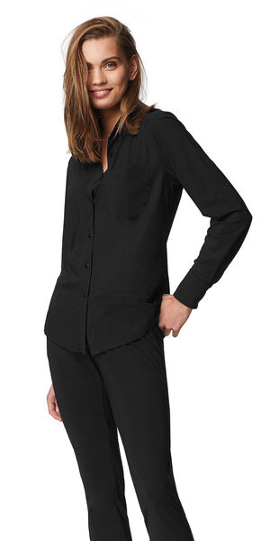Image of LaDress Annie jersey lycra blouse black