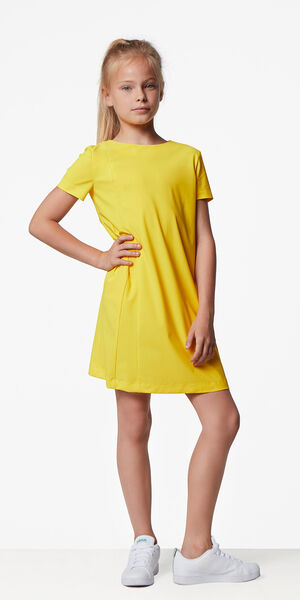 Image of LaDress Ariel jersey lycra dress yellow