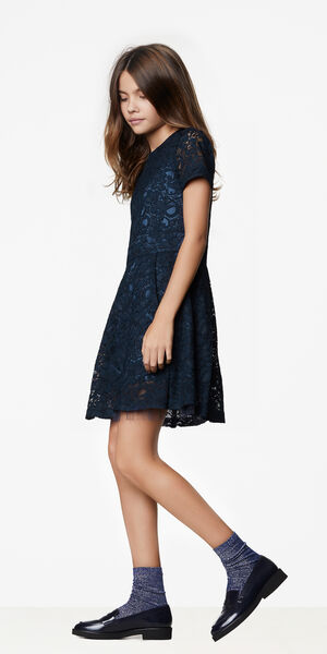 Image of LaDress Annette flared lace dress blue