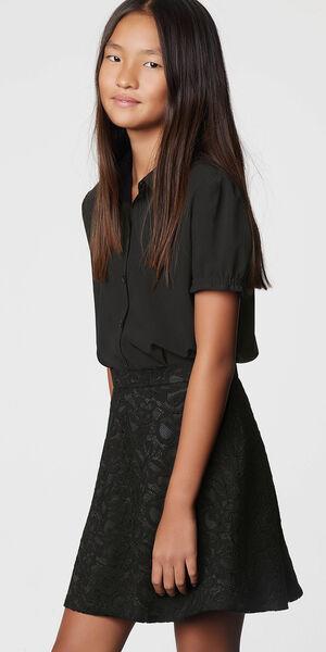 Image of LaDress Andrina crepe de chine blouse black